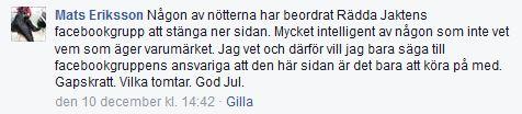 Mats Eriksson FB 141210