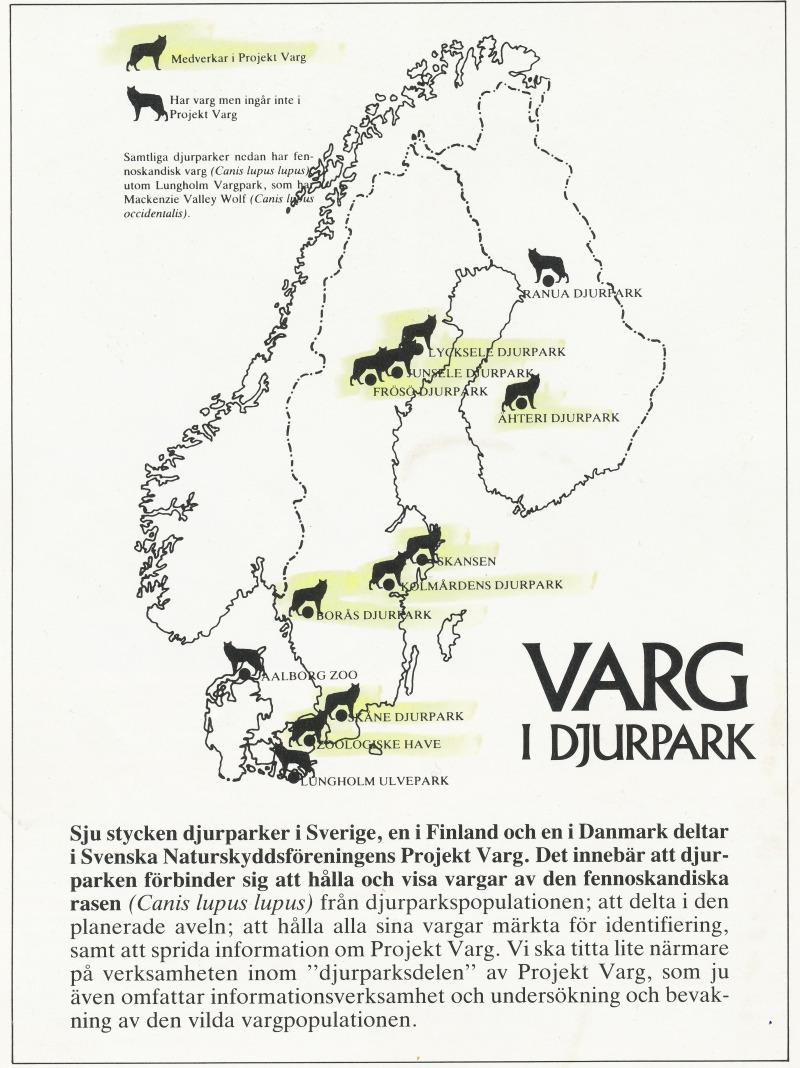 Djurparker Projekt VARG 1985